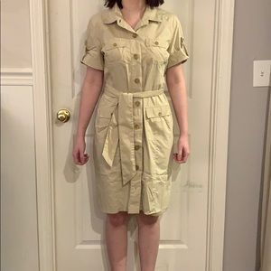 Banana Republic khaki dress